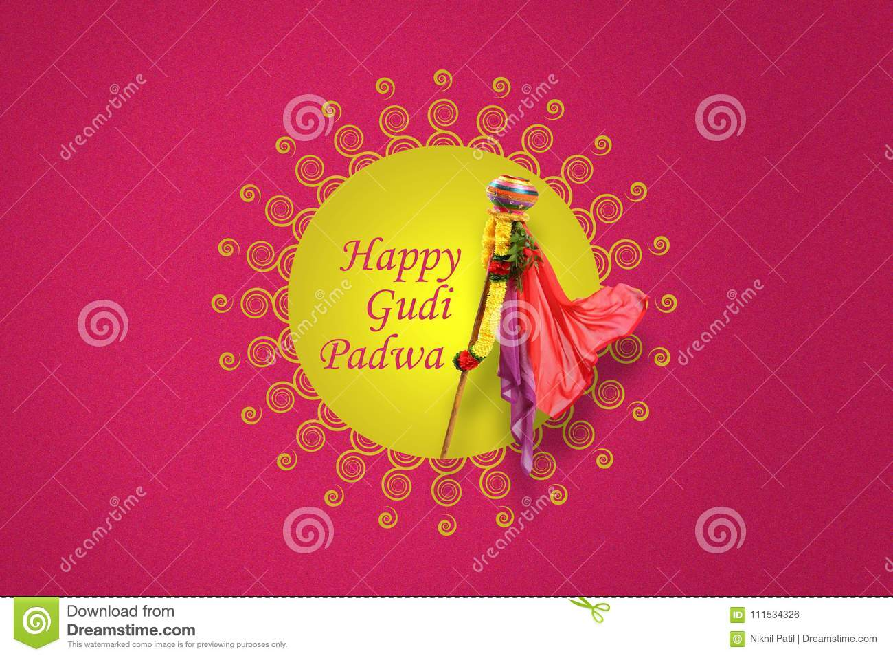 Gudi padwa marathi new year stock illustration illustration of download gudi padwa marathi new year stock illustration illustration of greeting lunar 111534326 m4hsunfo