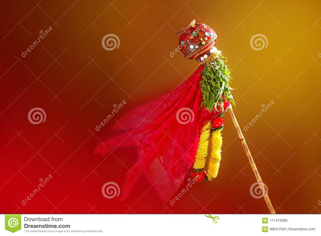 download gudi padwa marathi new year stock image image of greeting hindu 111473999