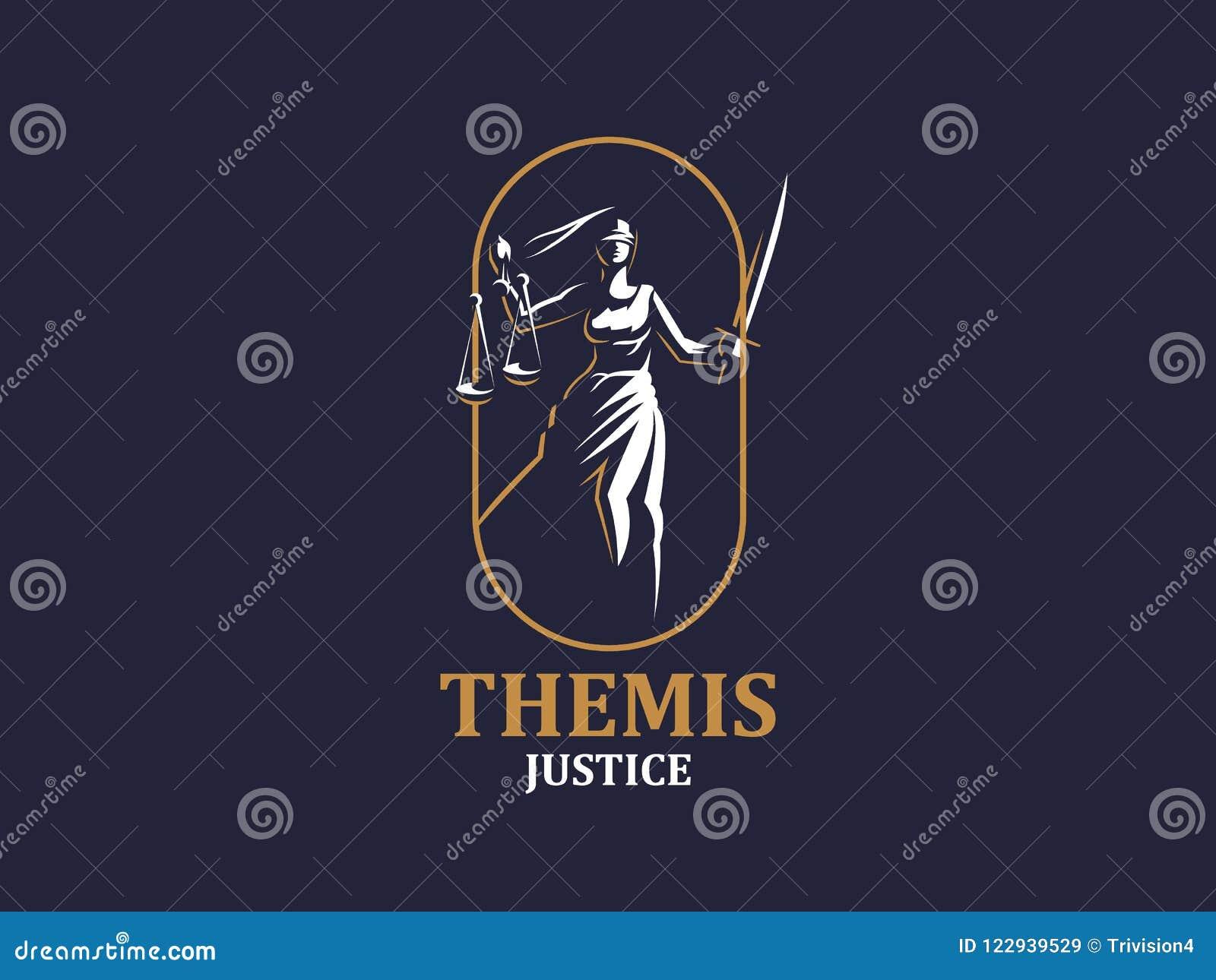 Gudinnan av rättvisa Themis