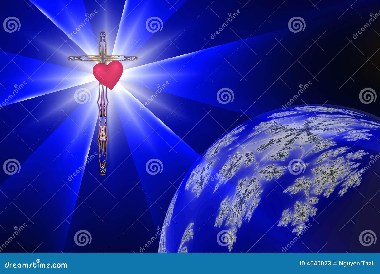 Gudomlig hjärtalampa för kors