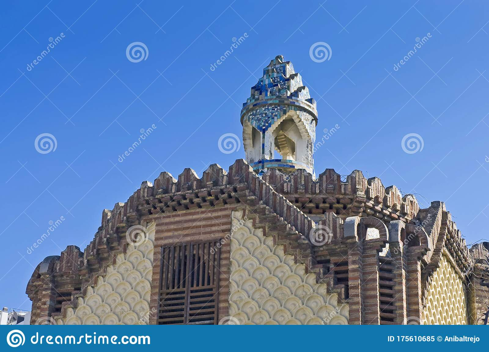 Guell Country House In Barcelona Spain Stock Image Image Of Mediterranean Outside 175610685