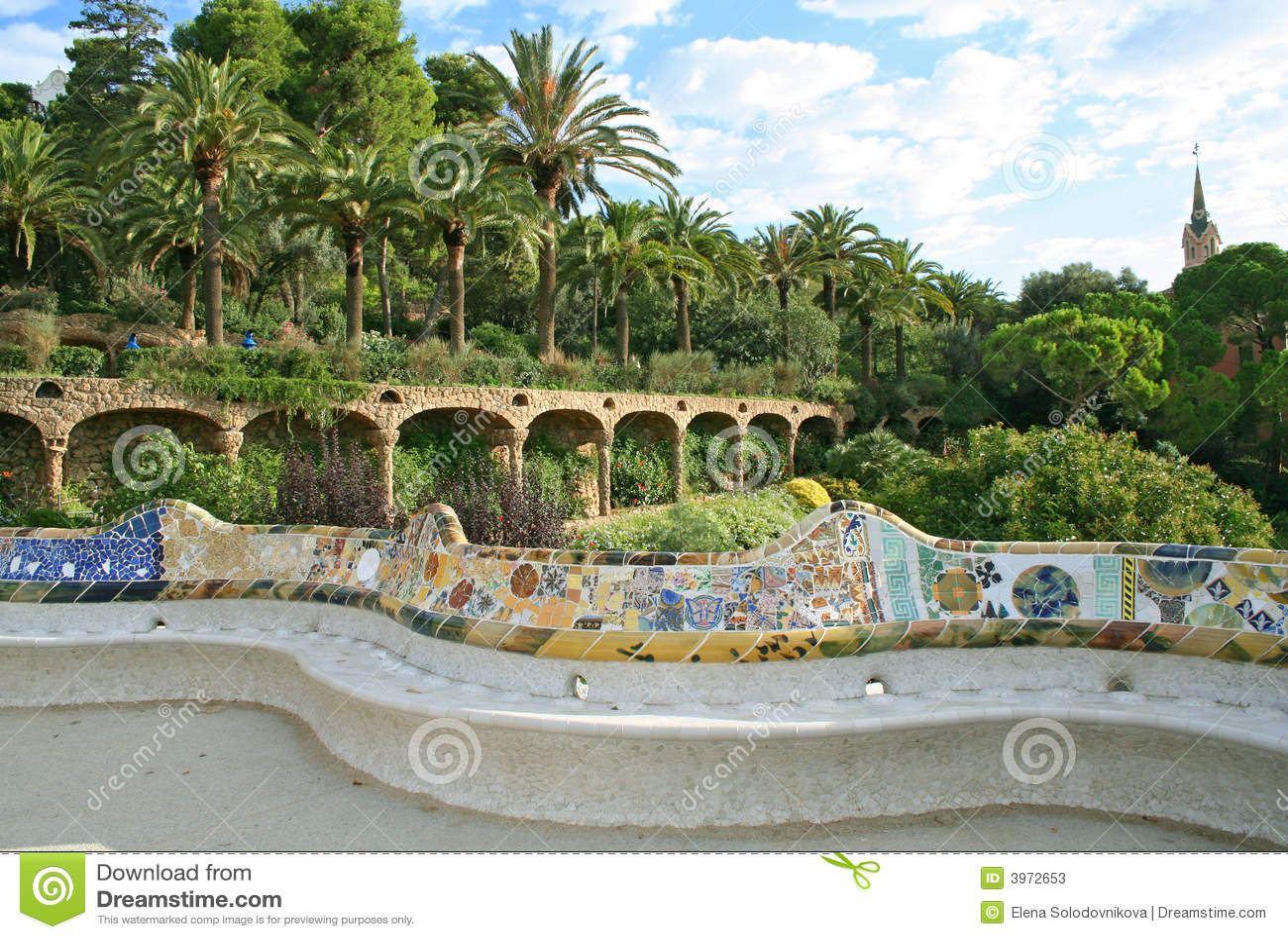 Guell park, Barcelona.