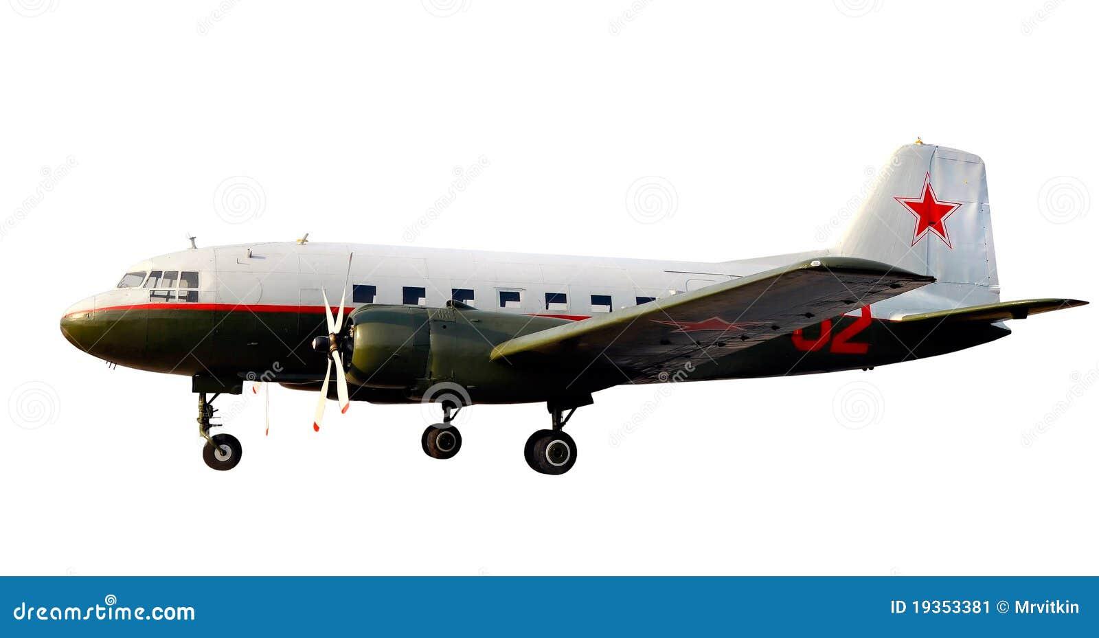 A guerra de mundo emprestar-aluga o avião dc-3 li-2