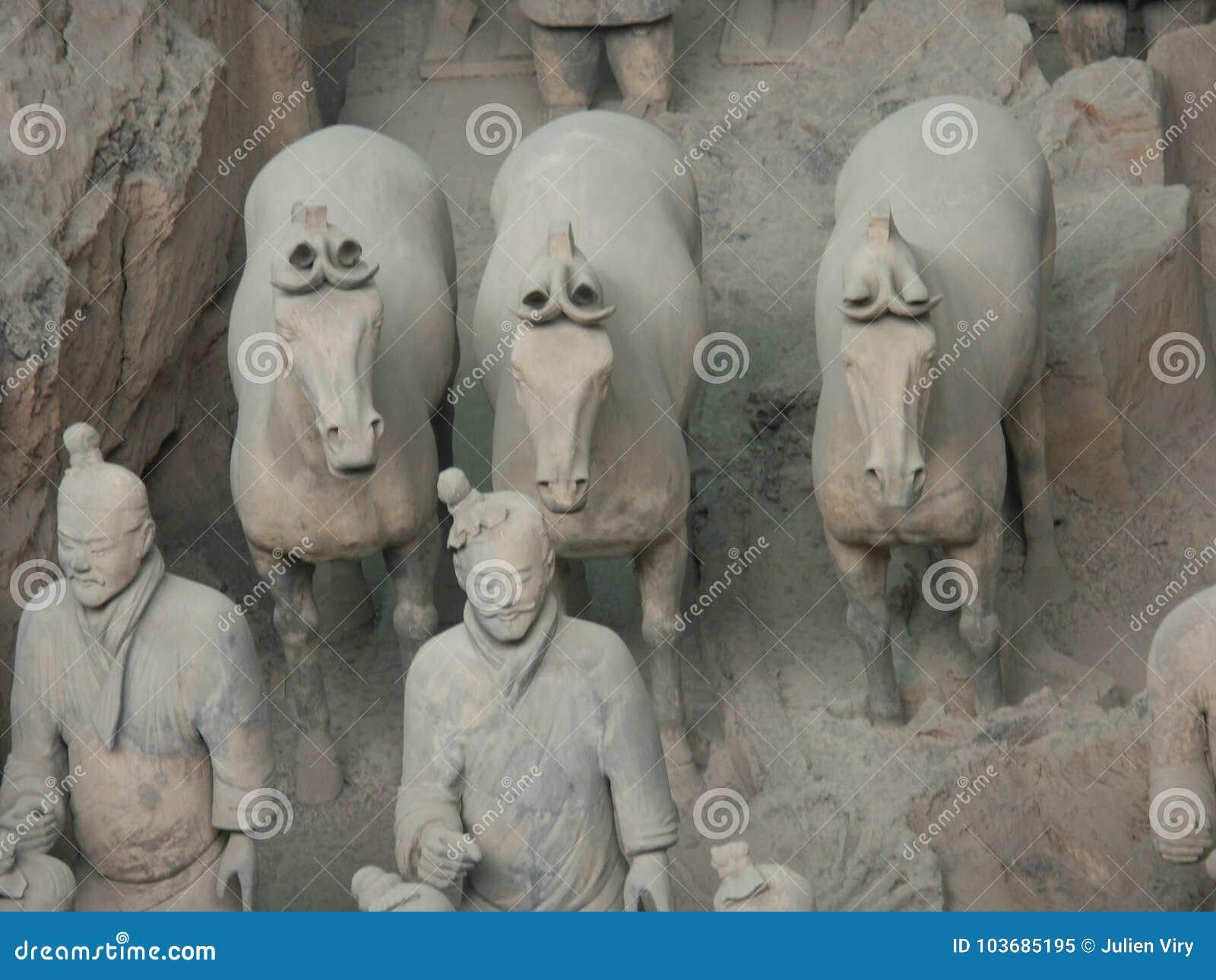 Guerreiros do exército da terracota em Xian China