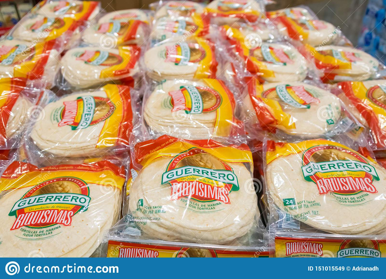 Guerrero Brand Soft Flour Tortillas Editorial Stock Image Image Of Soft Sale 151015549