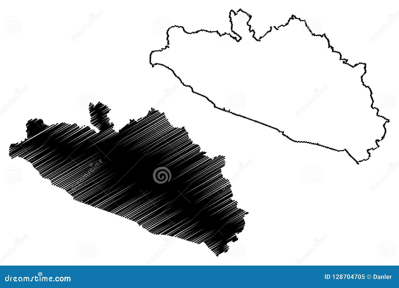 Guerrero map vector stock vector. Illustration of mexico ...
