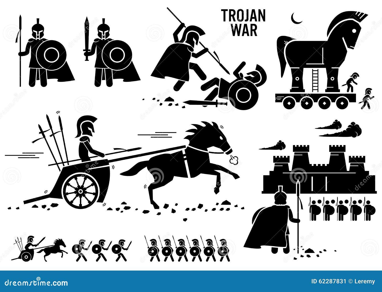 ... Troy Sparta Spartan Clipart de Rome de Grec de cheval de guerre Trojan