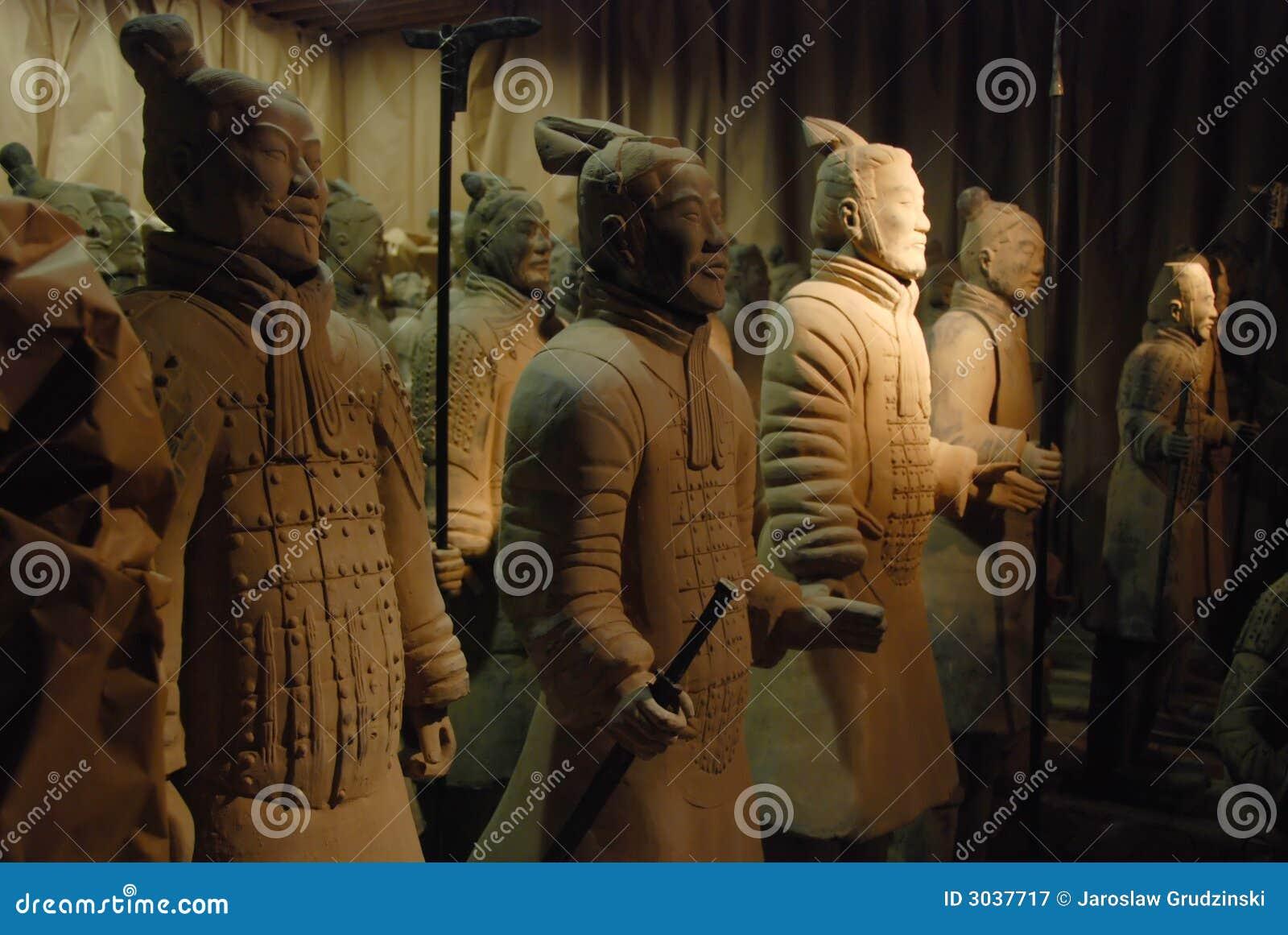 Guerriers chinois de terre cuite