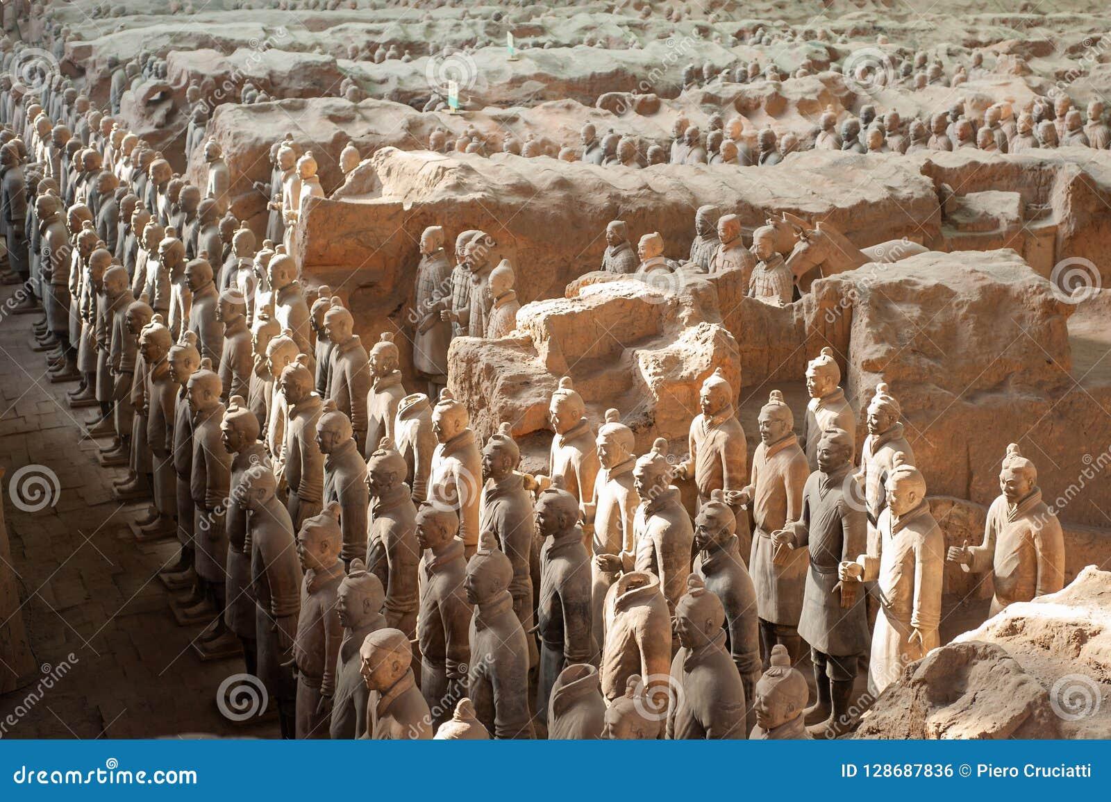 Guerriers de terre cuite dans XI le `, Chine