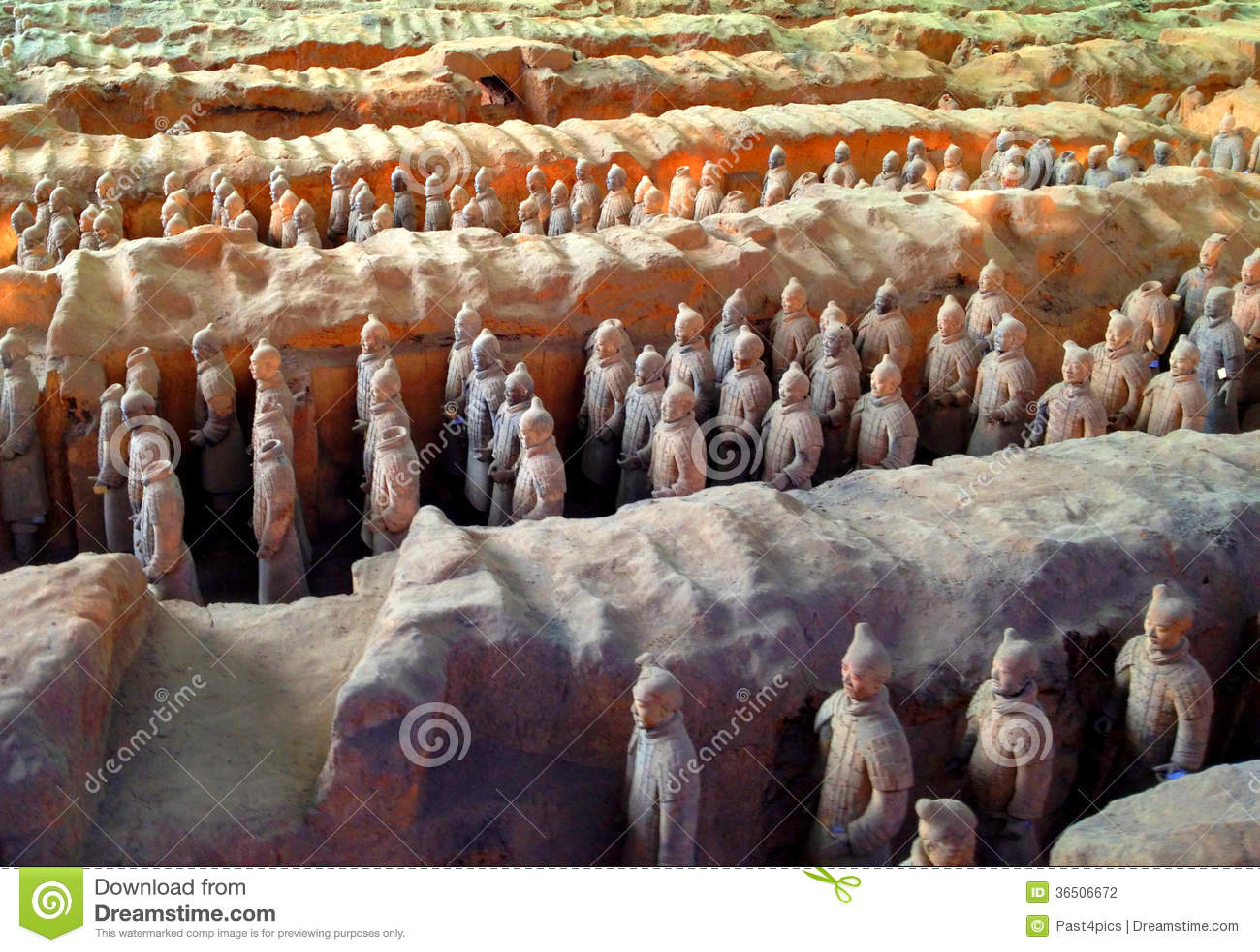 Guerriers de terre cuite, Xi an, Chine