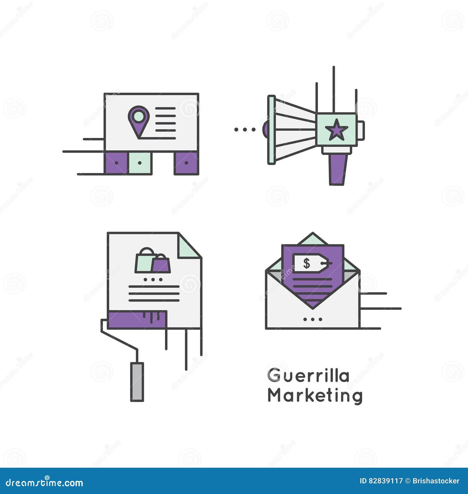 Guerrilla reklamy strategii marketingowy pojęcie