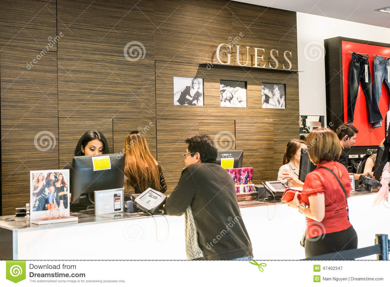 Sephora Black Friday >> Guess Store At Westfield Mall Editorial Photography - Image: 47402347