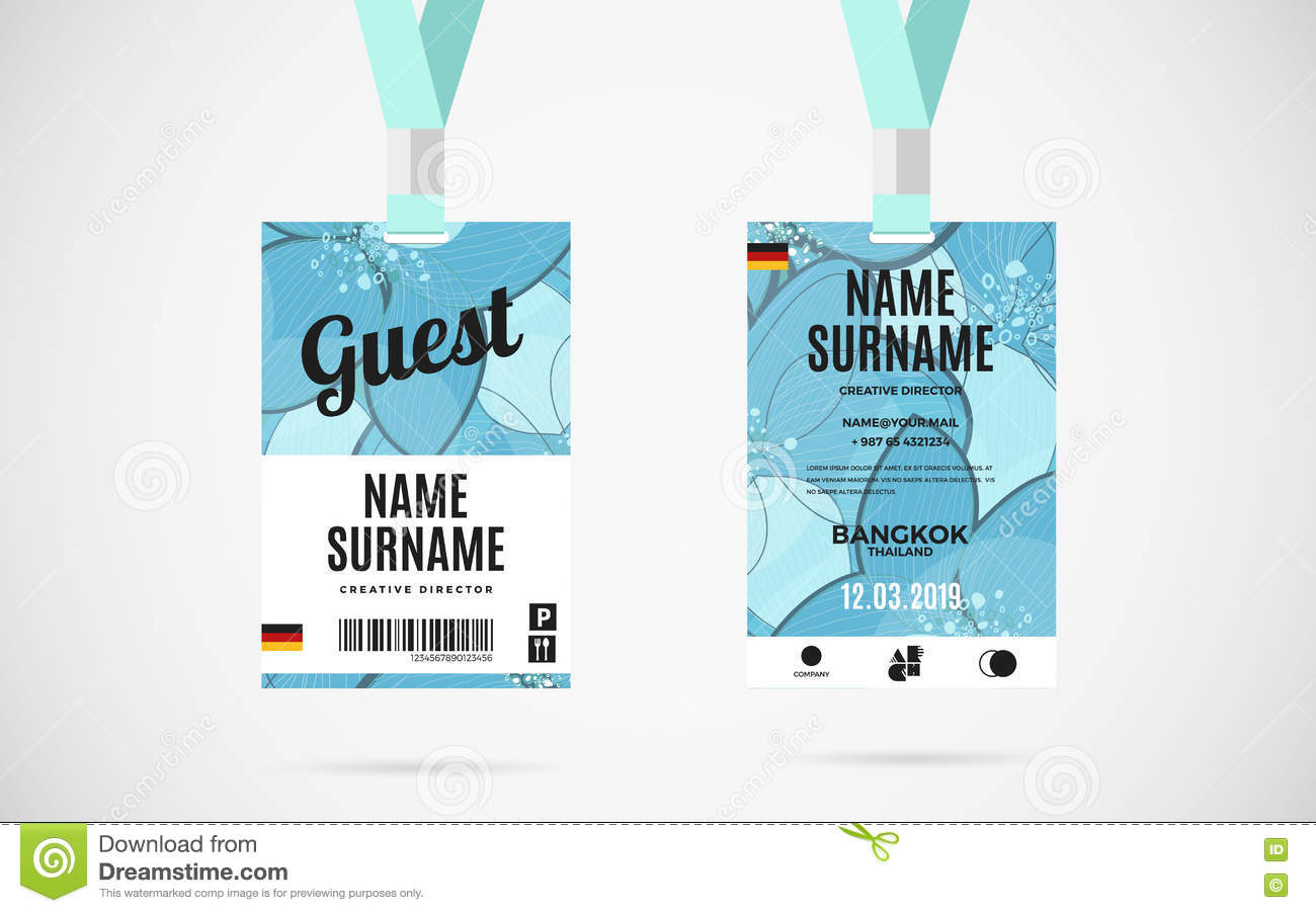 identification card template free download