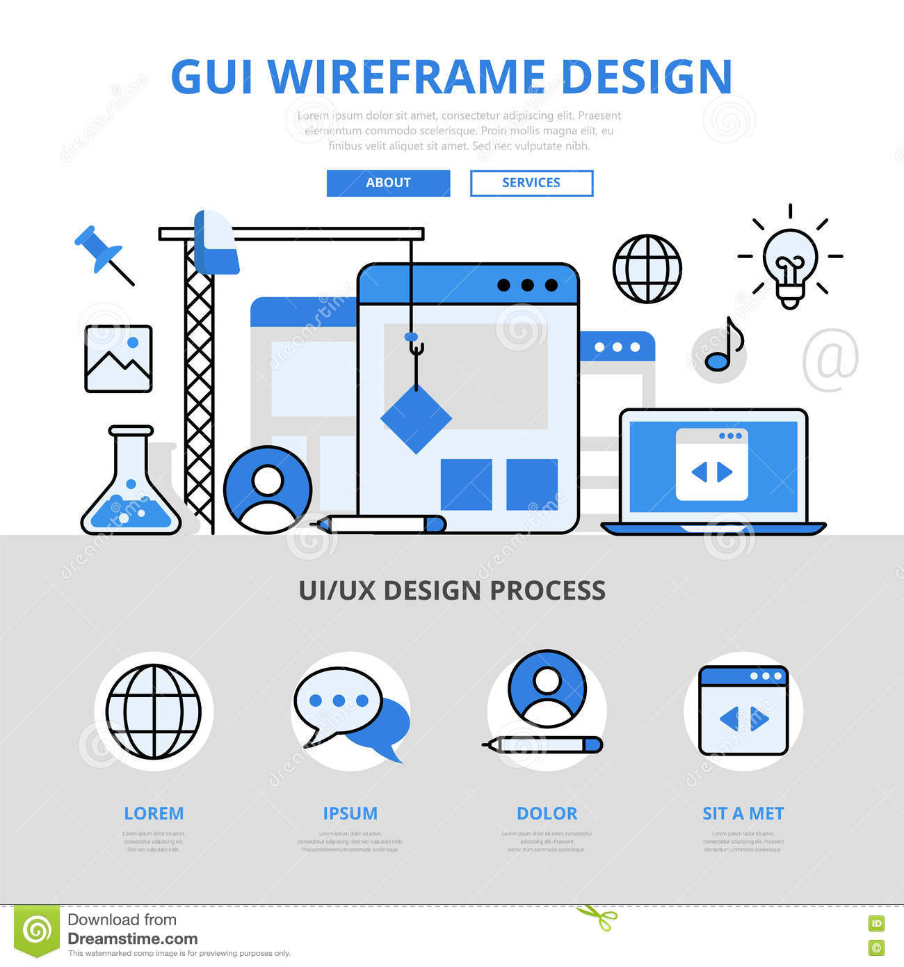Hero Image Web Design Wireframe