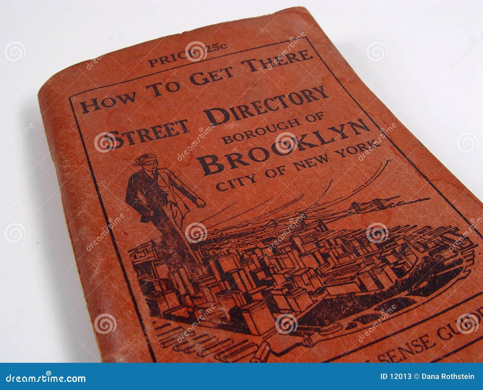 Guia de rua 1920 de Brooklyn