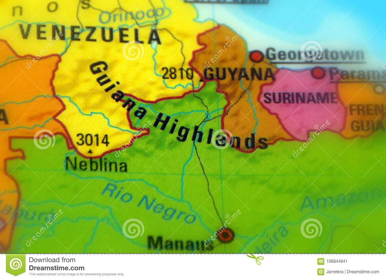 Guiana Highlands South America Stock Image Image Of Plateau