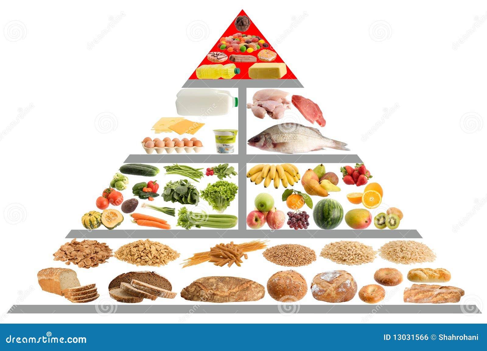 Guida della piramide di alimento