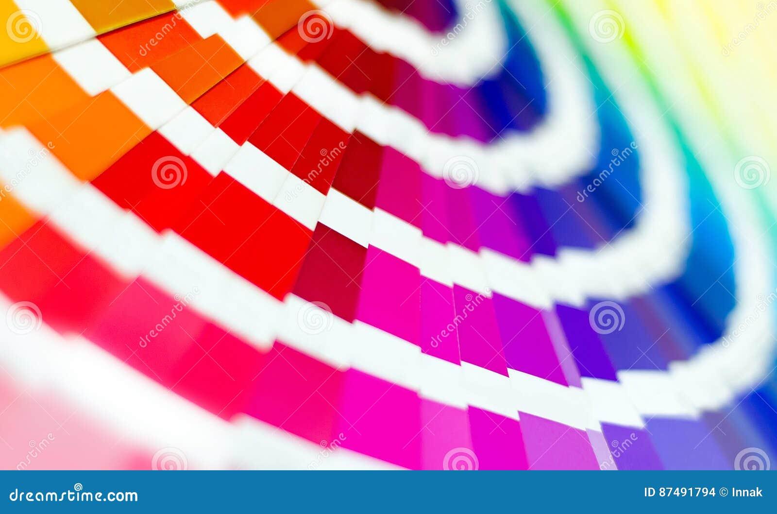 Guide de palette de couleur L échantillon colore le catalogue Fond lumineux multicolore RVB CMYK Maison d impression