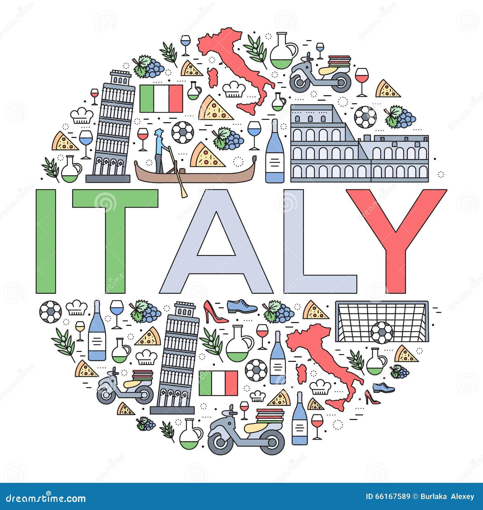 guide de vacances de voyage de l 39 italie de pays des marchandises des endroits et des. Black Bedroom Furniture Sets. Home Design Ideas