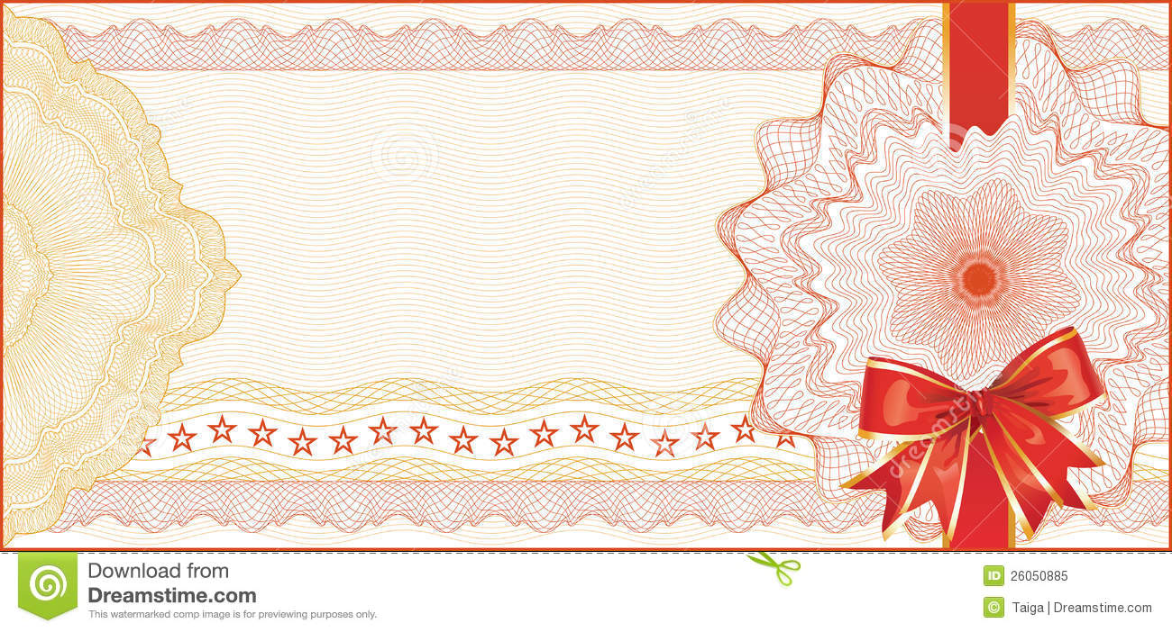 Guilloche Background For Gift Certificate Royalty Free