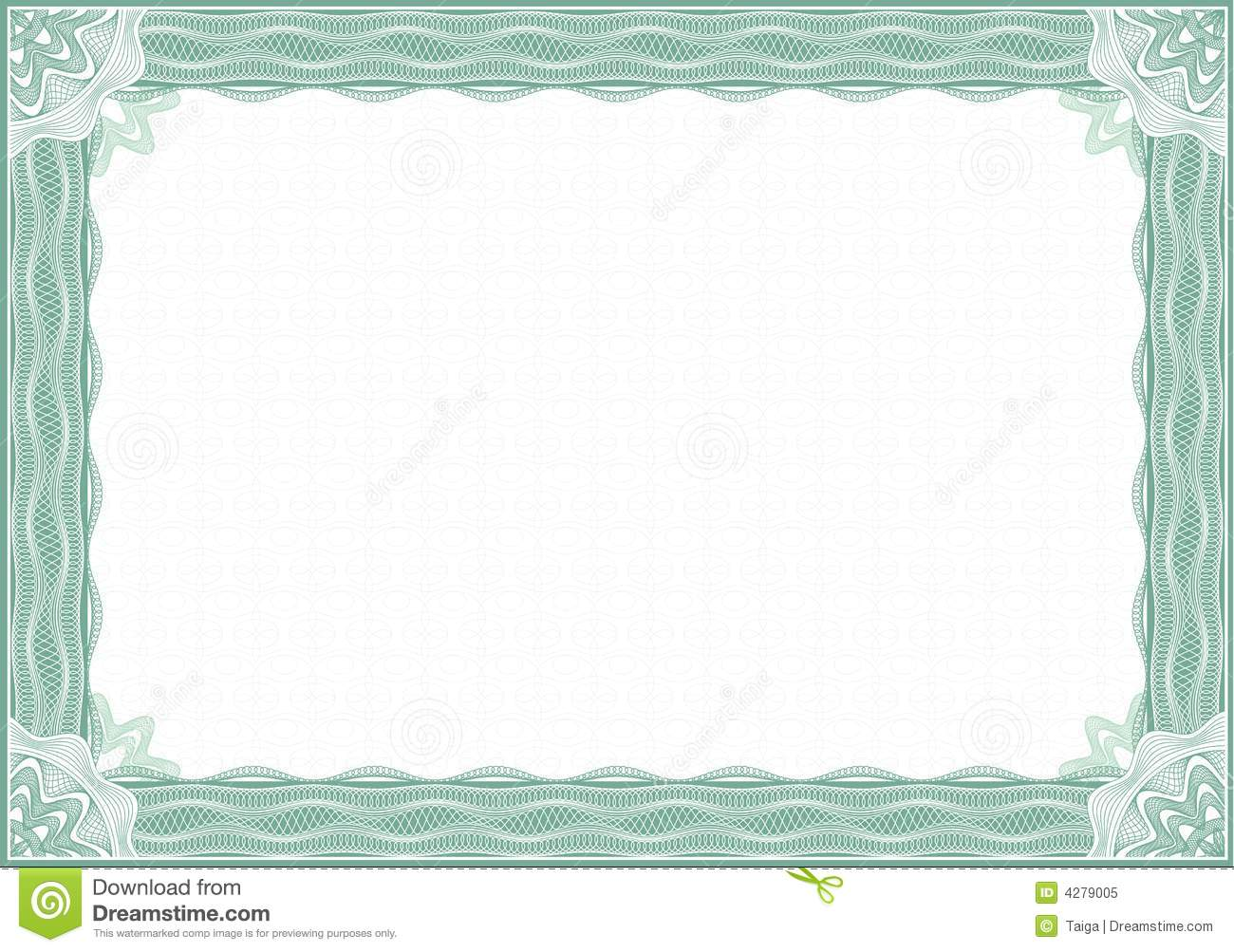 guilloche border for diploma or certificate stock vector