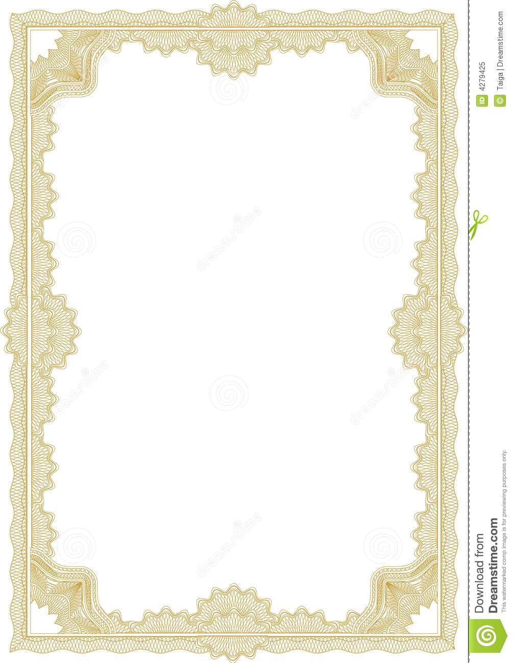 Guilloche Border For Diploma Or Certificate Royalty Free