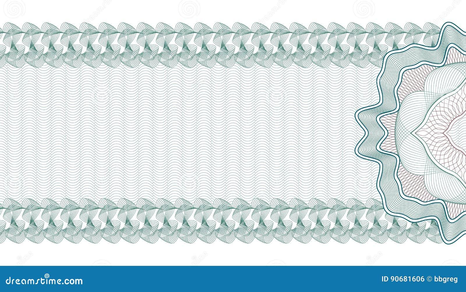 Guilloche-Hintergrund Für Gutschein, Beleg Oder Banknote, Schablone ...