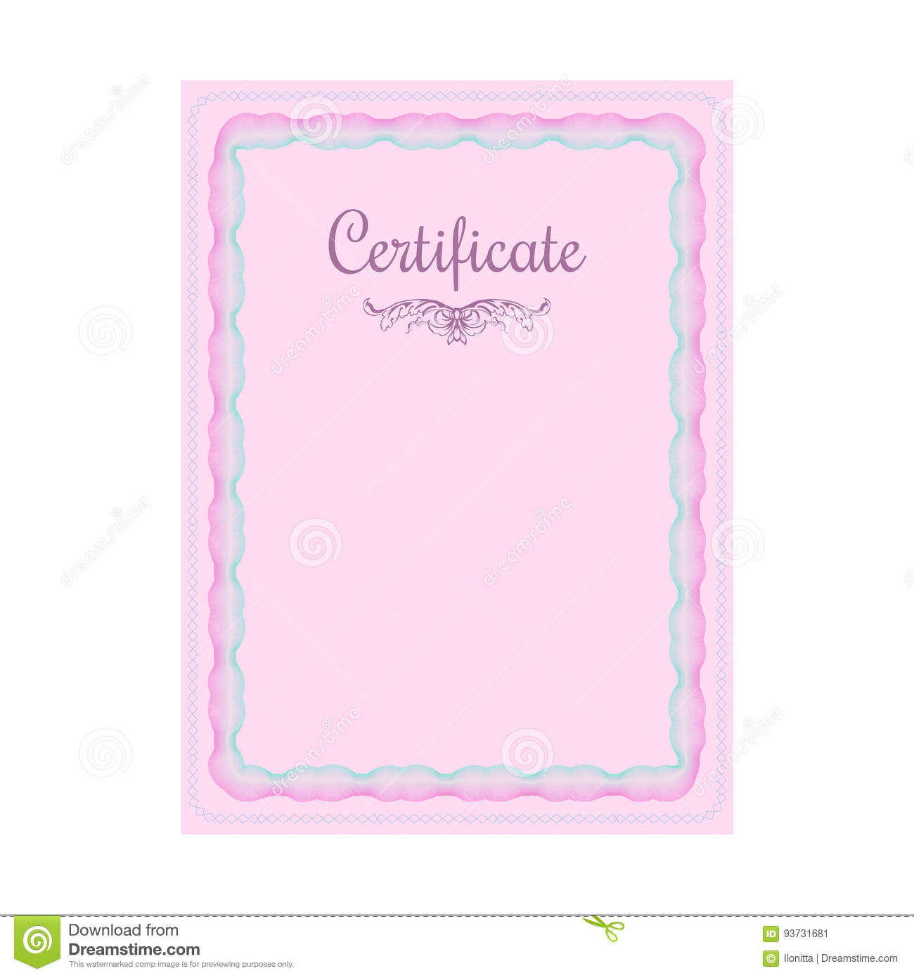 Guilloche official blue certificate with frame stock vector guilloche official blue certificate with frame yelopaper Images