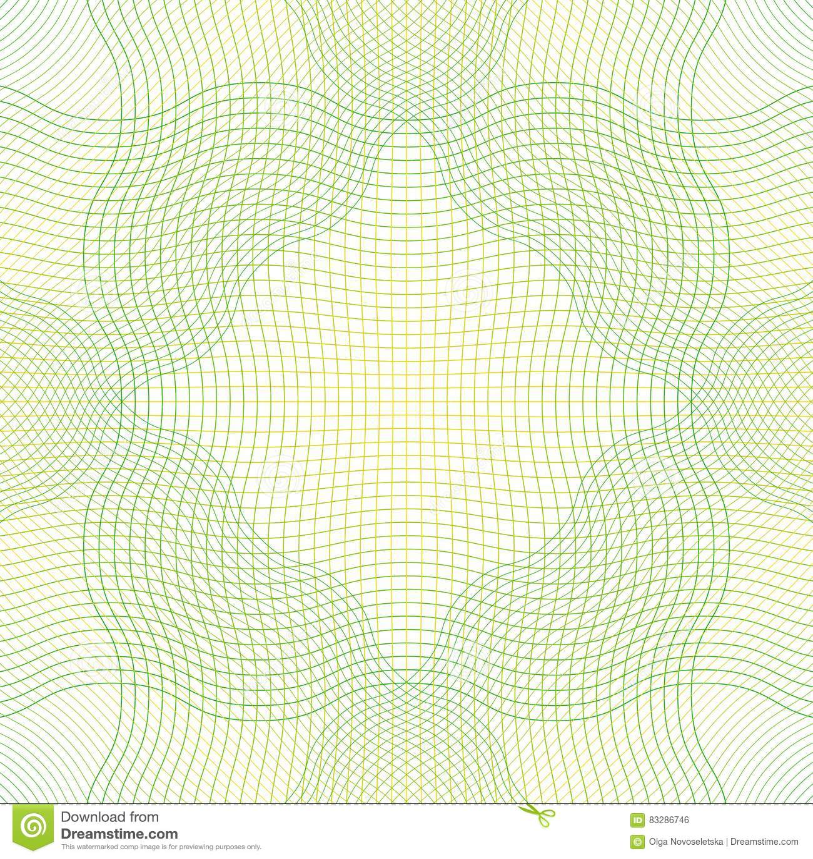 Guilloche Pattern Green Stock Vector Illustration Of Diploma 83286746