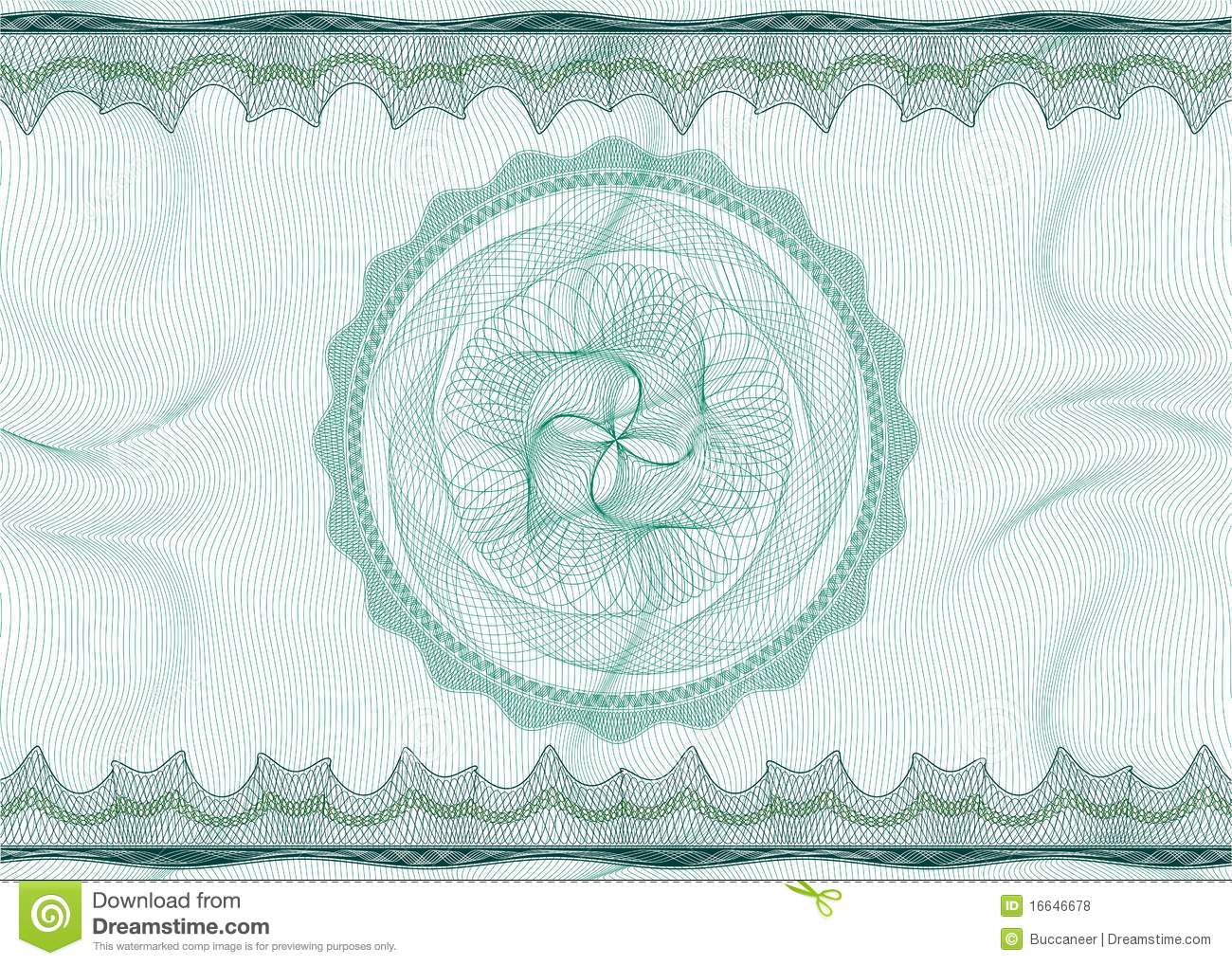 guilloche pattern with rosette stock vector