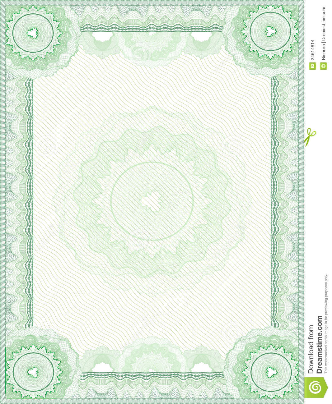 Guilloche Vector Border Stock Images - Image: 24614614