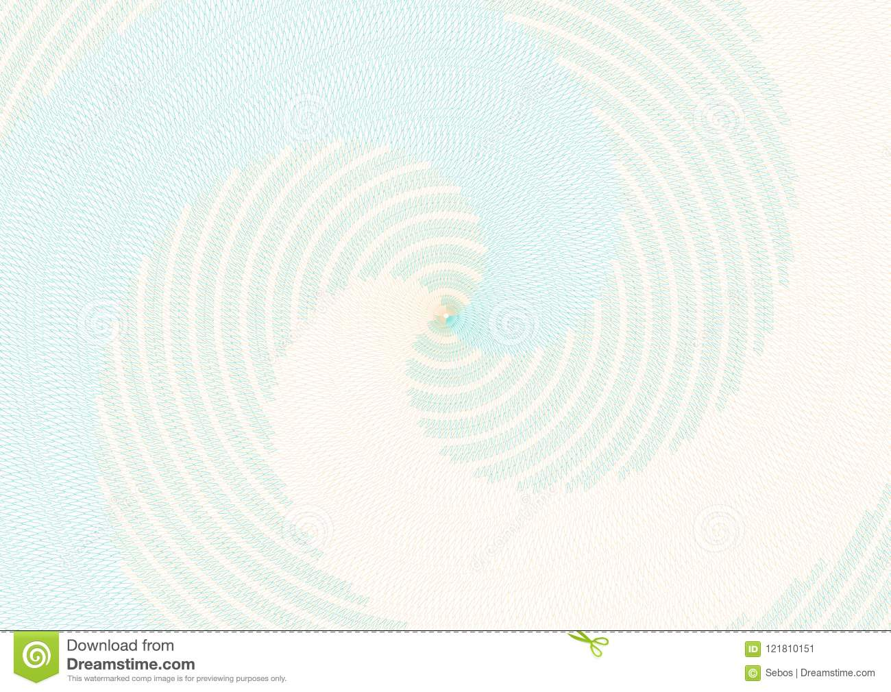 Guilloche Vector Radial Background Grid For Diploma And Certific