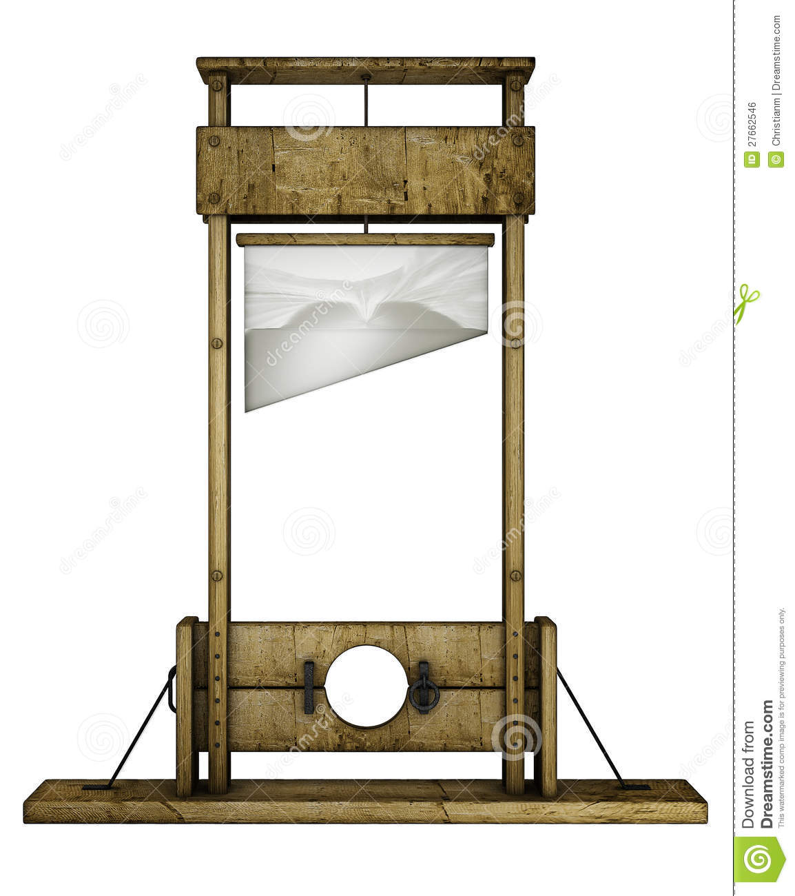 guillotine front view royalty free stock image image. Black Bedroom Furniture Sets. Home Design Ideas