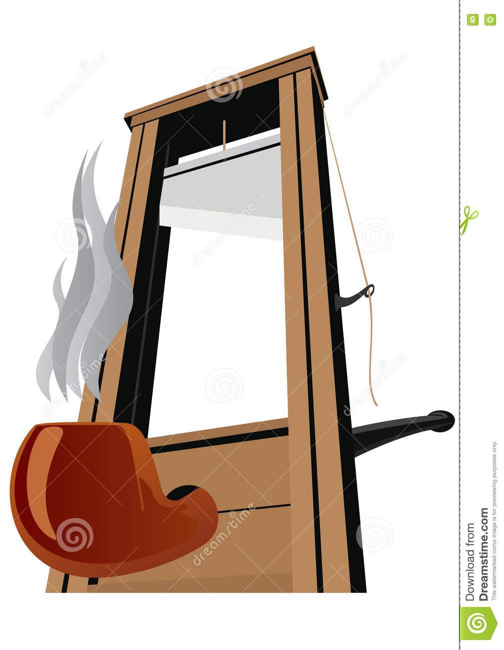 the guillotine and the pipe royalty free stock images. Black Bedroom Furniture Sets. Home Design Ideas
