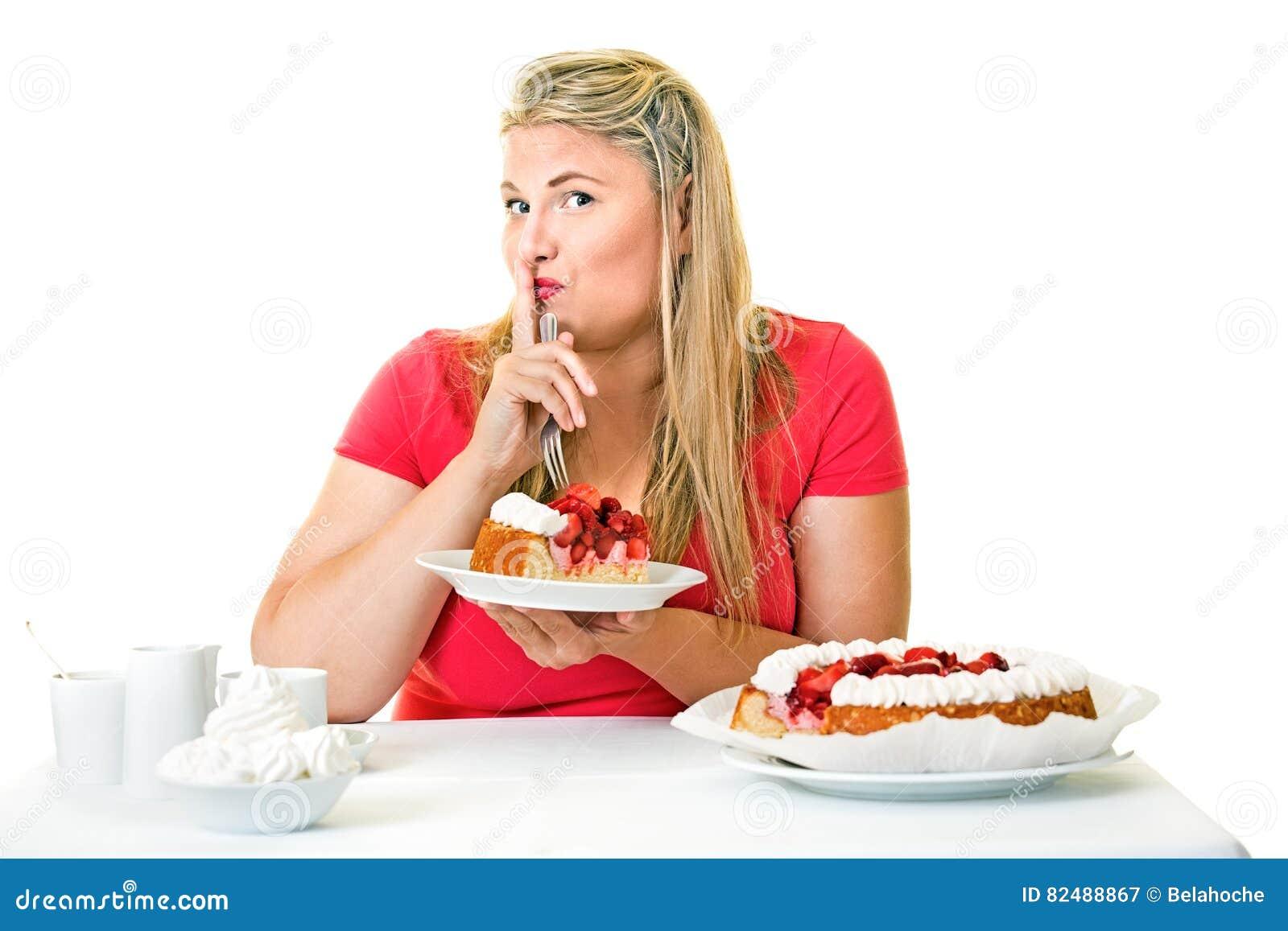 Fat Woman Eating Cake Stock Photos 1214 Images
