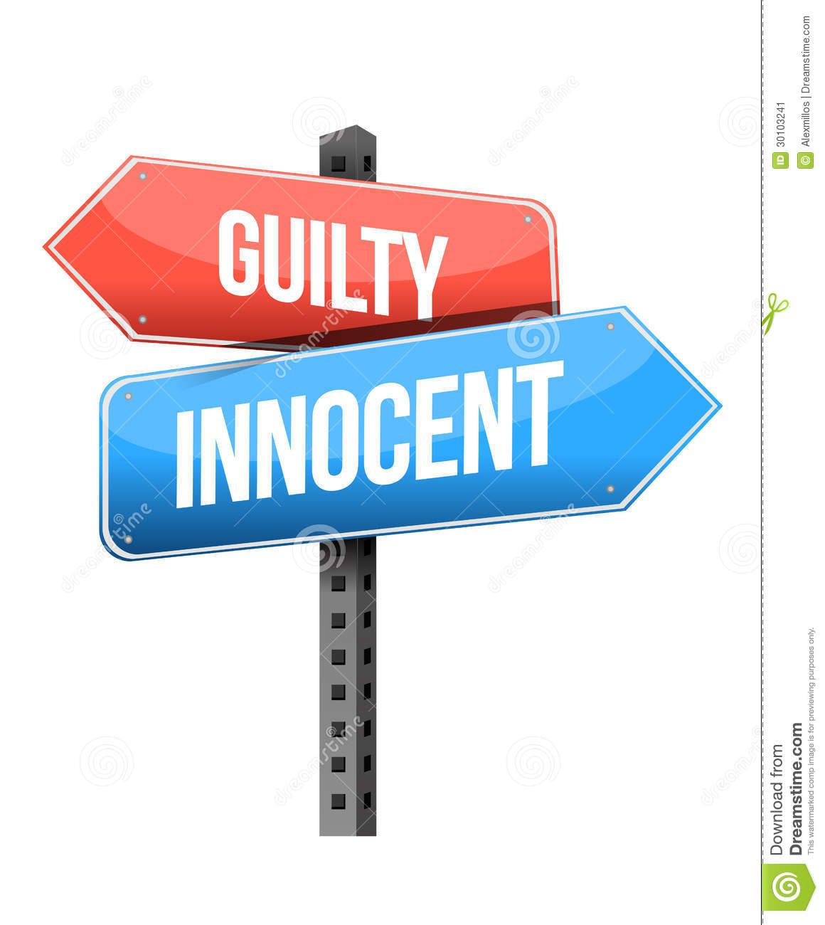 A guilty or innocent way a