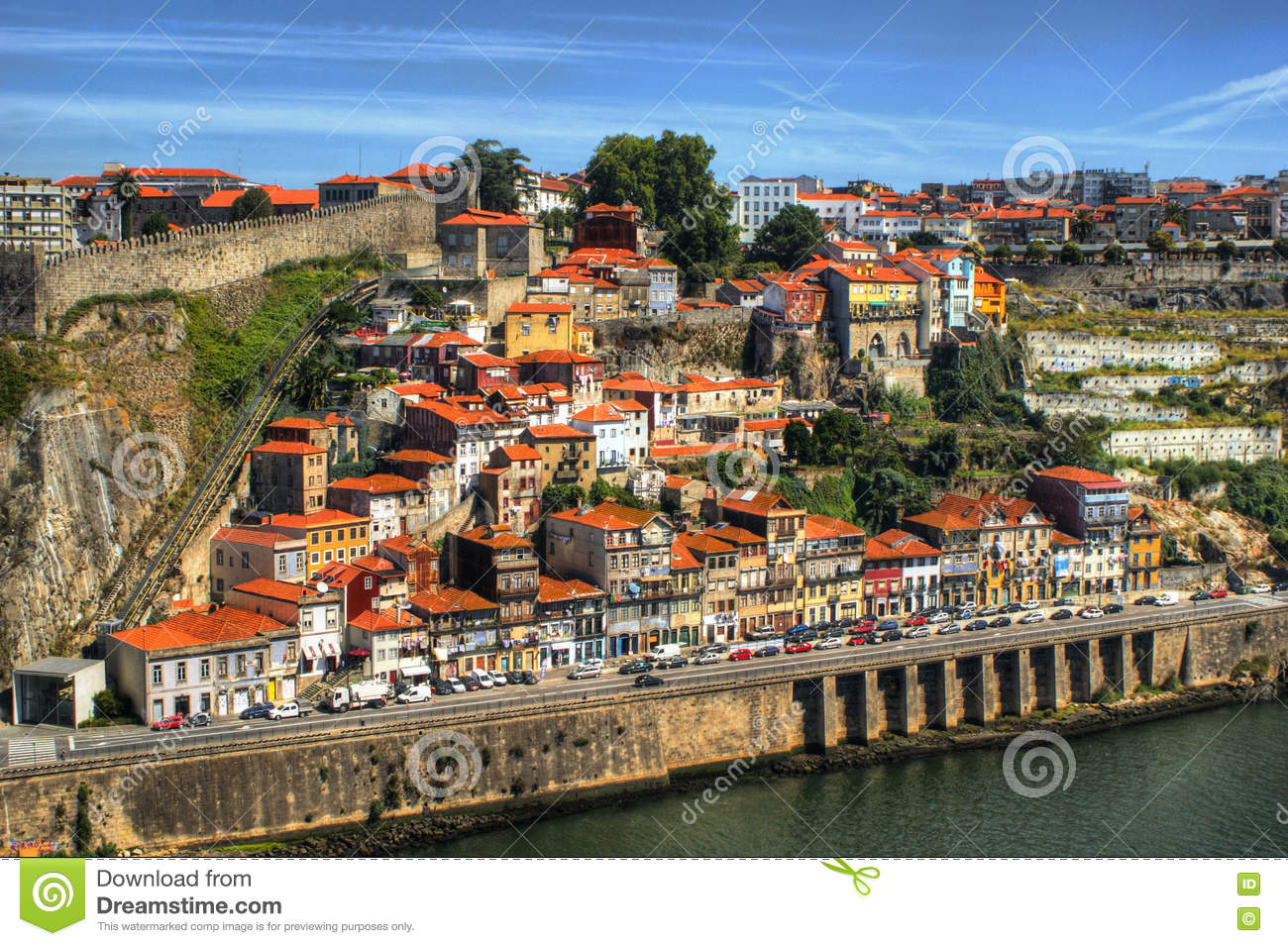 Guindais hill view in Porto