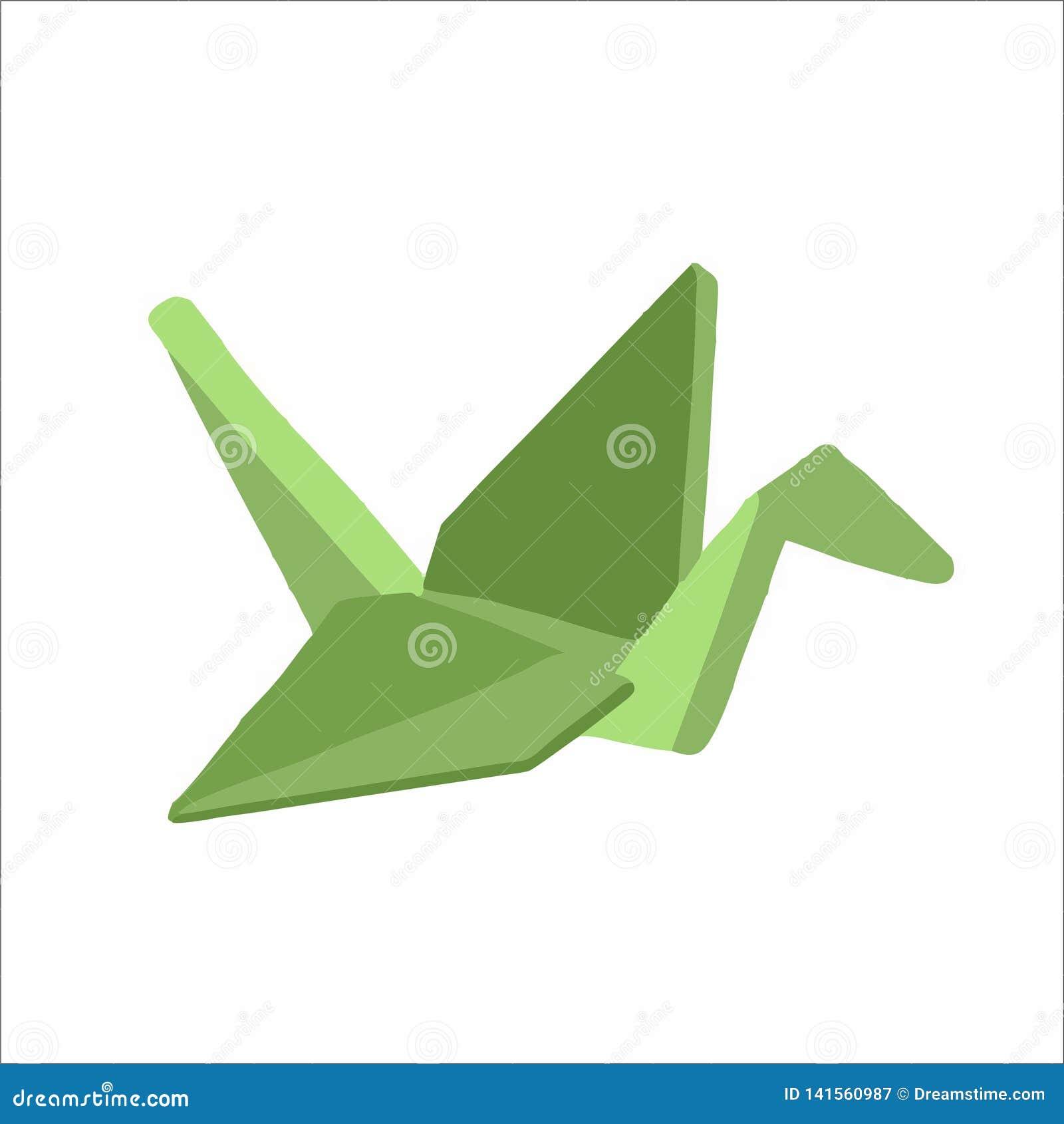 Guindaste de papel verde