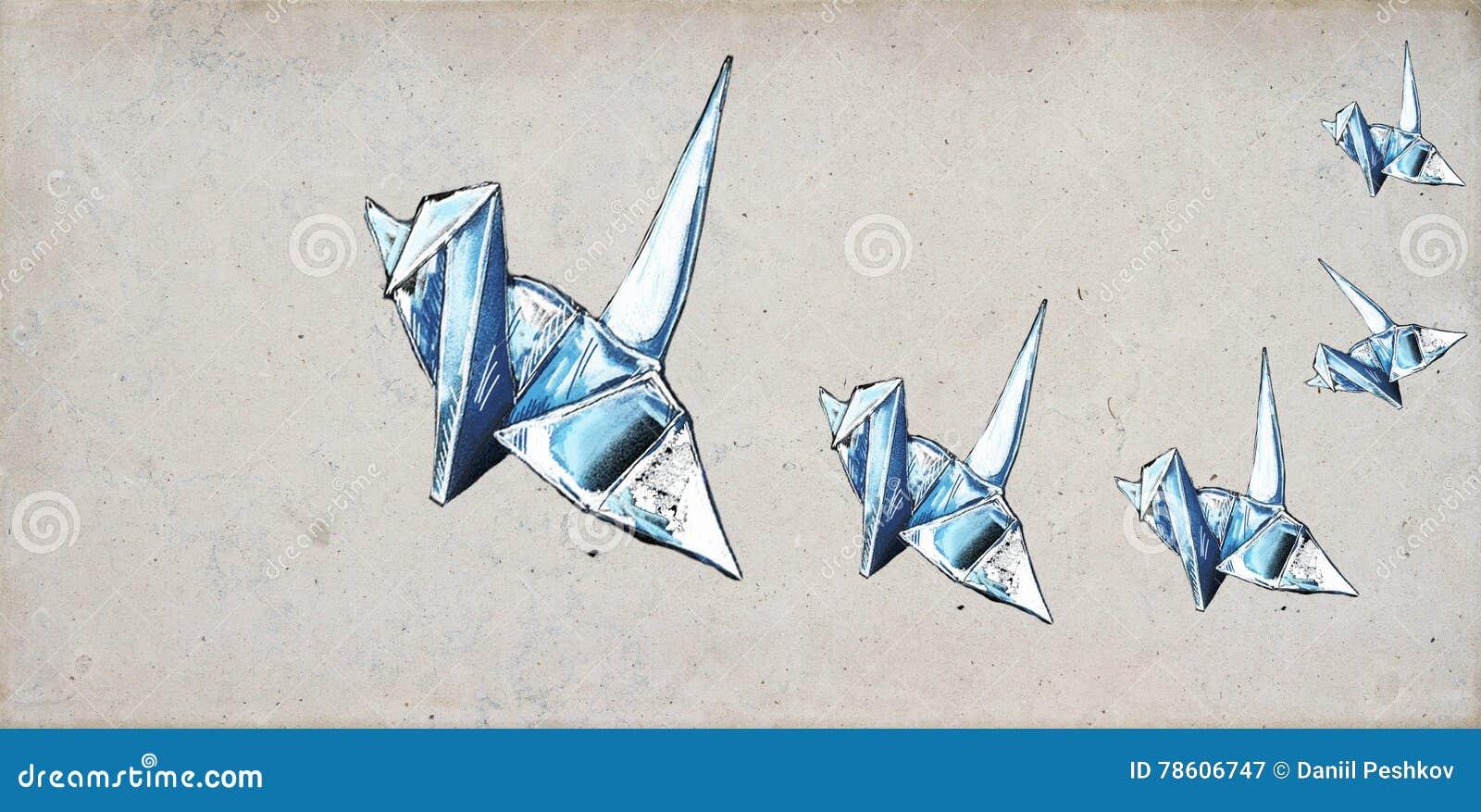 Guindastes de Origami