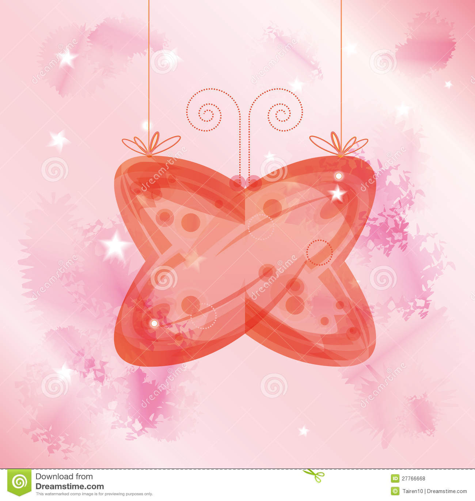 Guindineau en verre au-dessus de fond rose