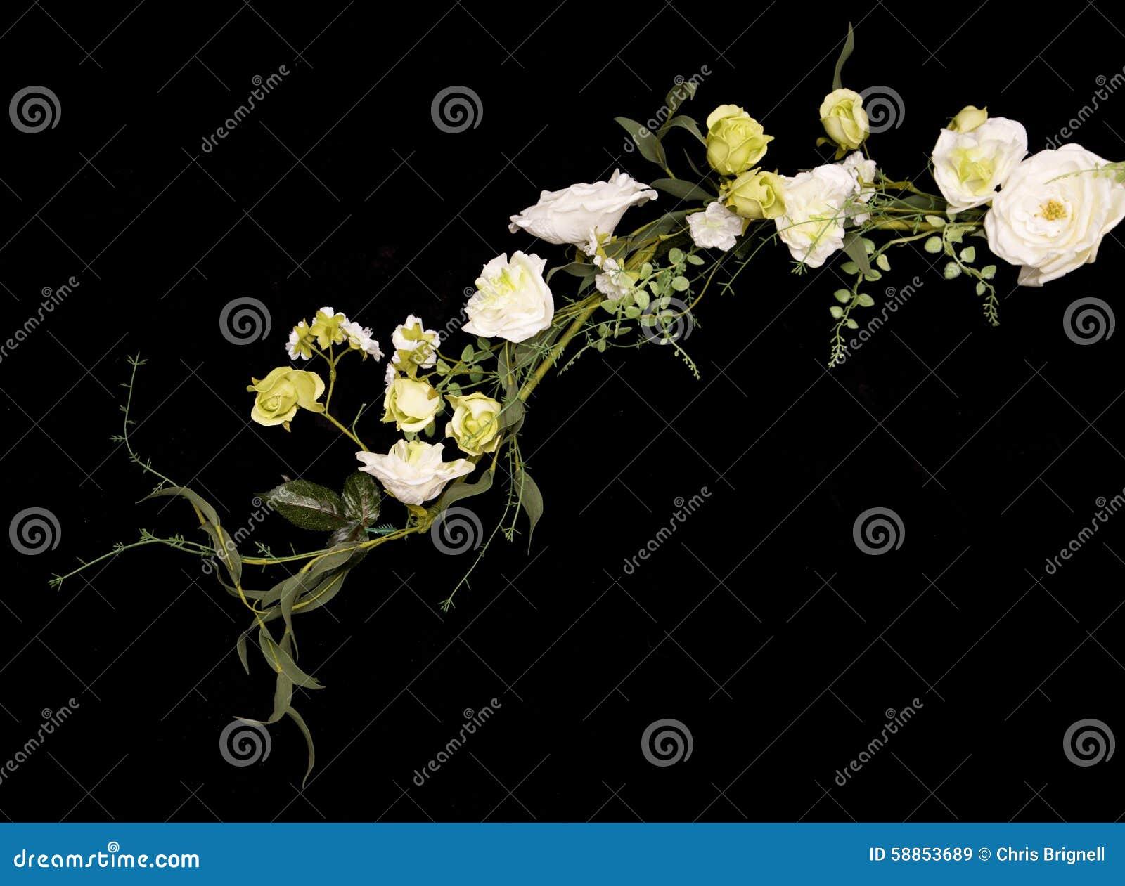 guirlande blanche de fleur artificielle de mariage image. Black Bedroom Furniture Sets. Home Design Ideas