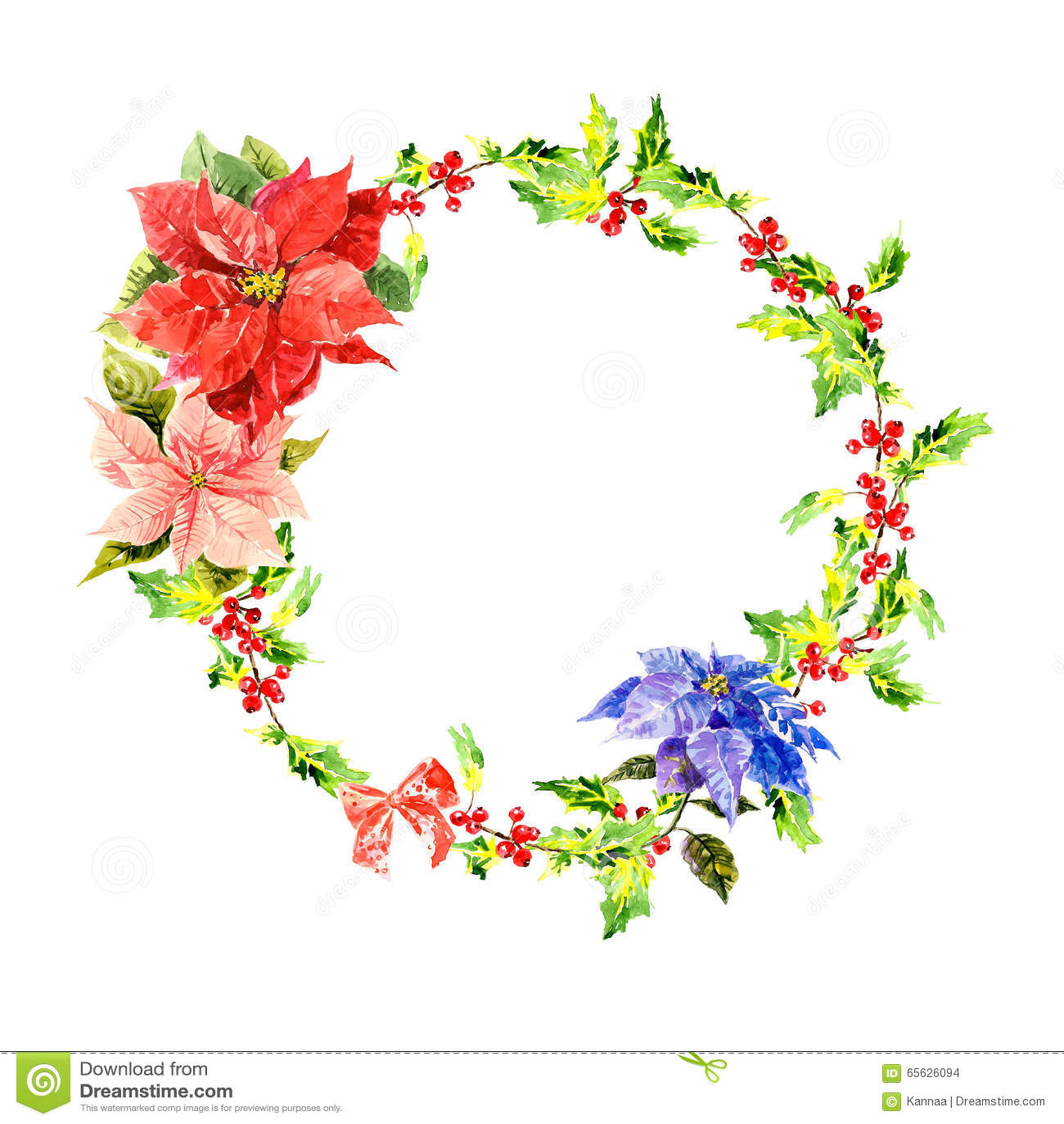 Guirlande d aquarelle avec les fleurs et le feuillage
