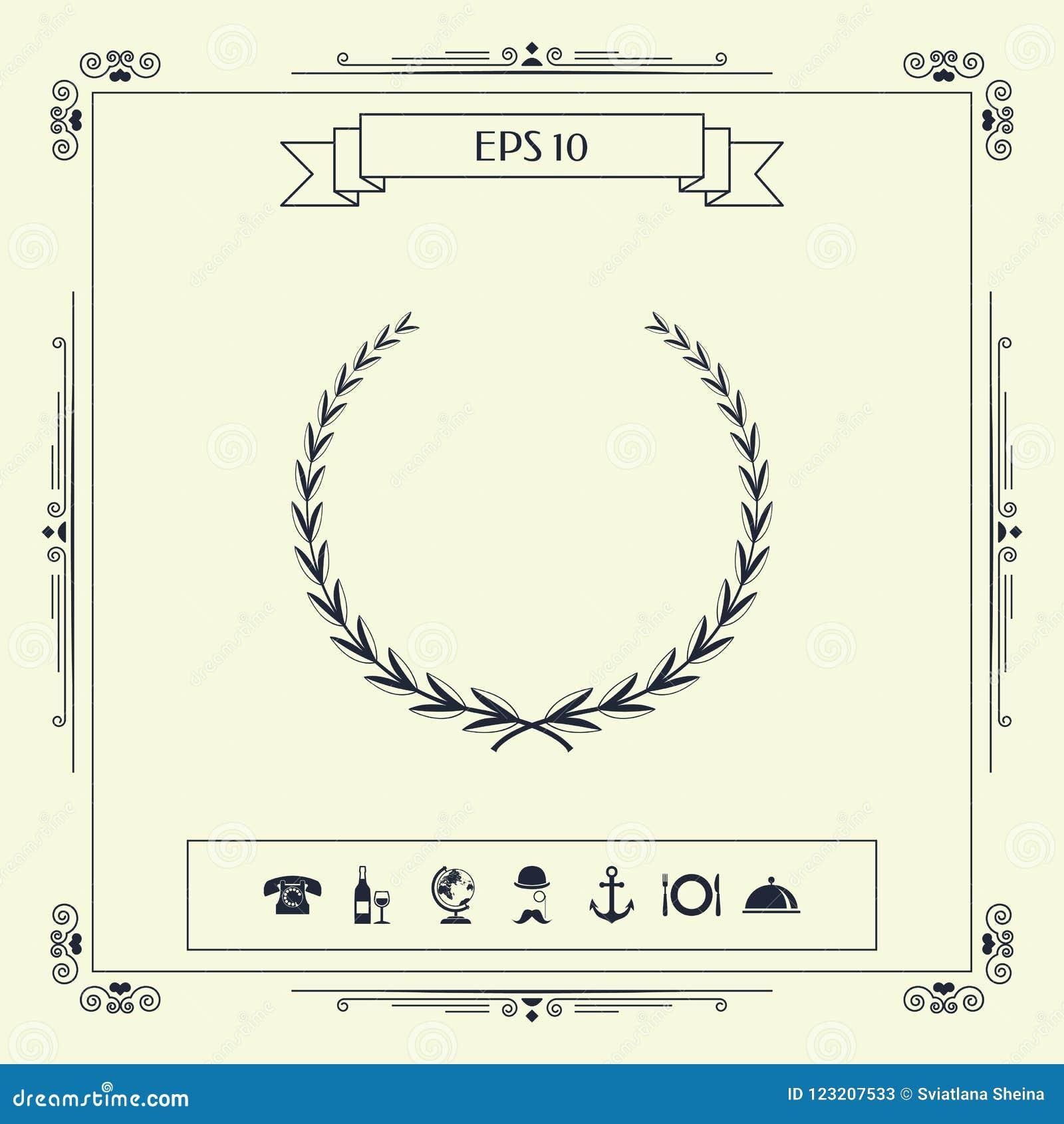 Guirlande de laurier - symbole