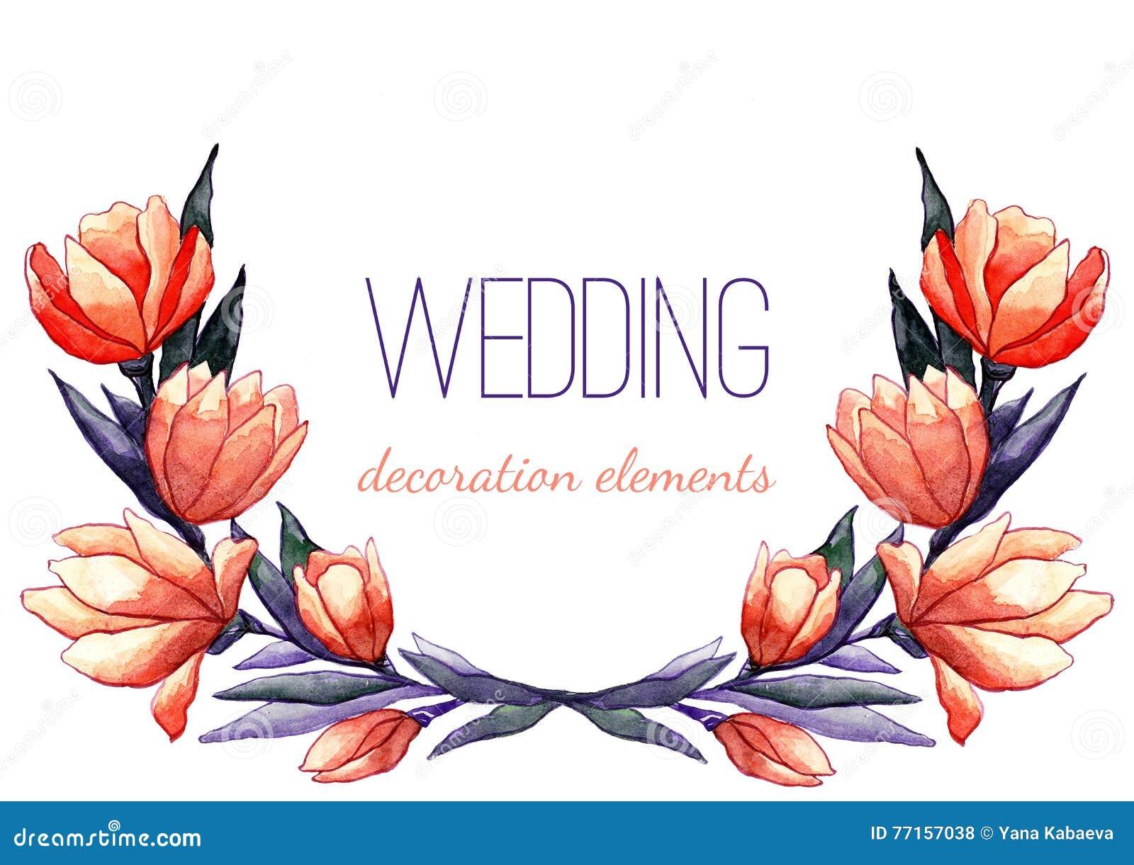 Guirlande de tulipes d aquarelle pour épouser le décor