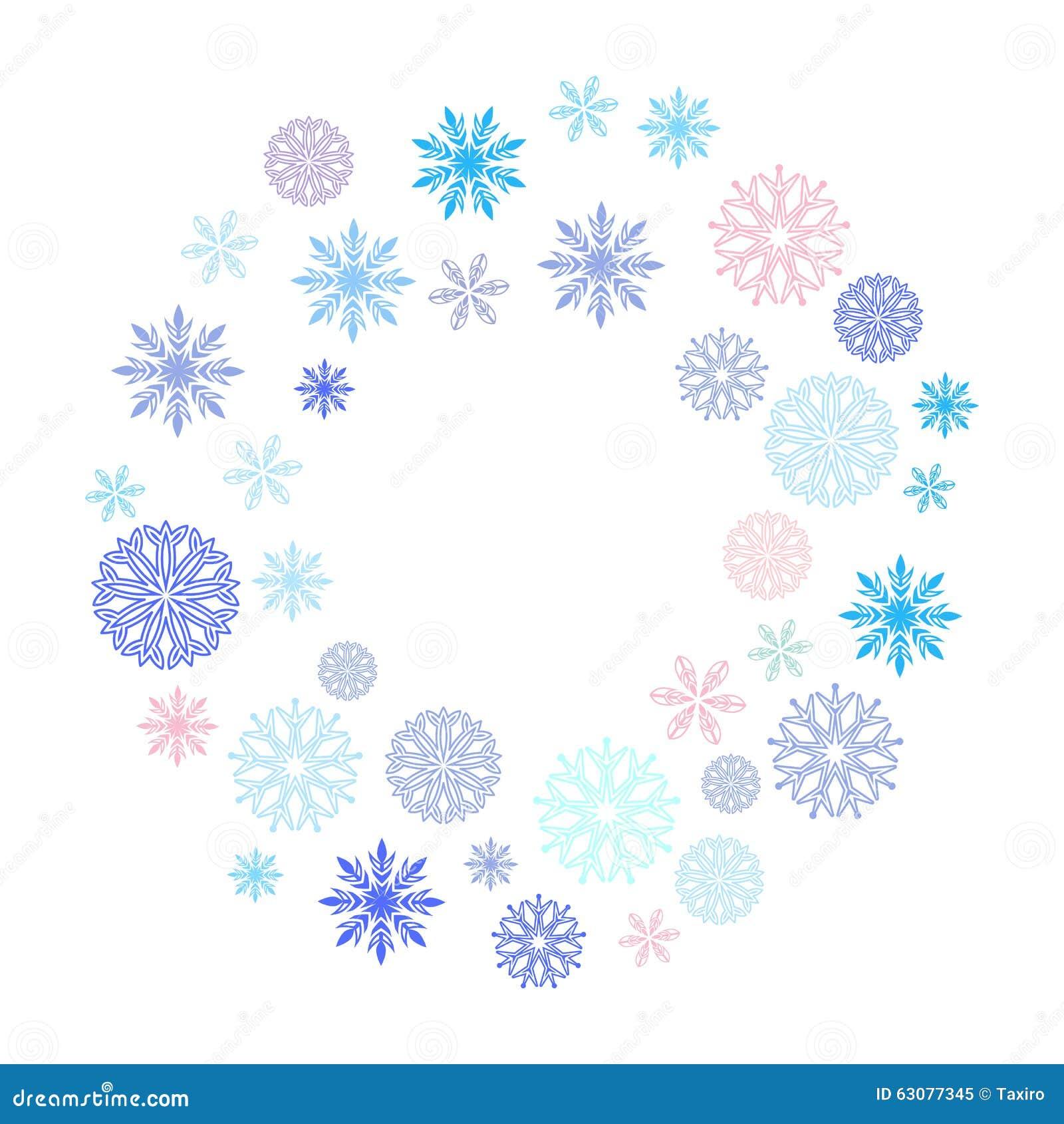 Download Guirlande Des Flocons De Neige Illustration de Vecteur - Illustration du bleu, élément: 63077345