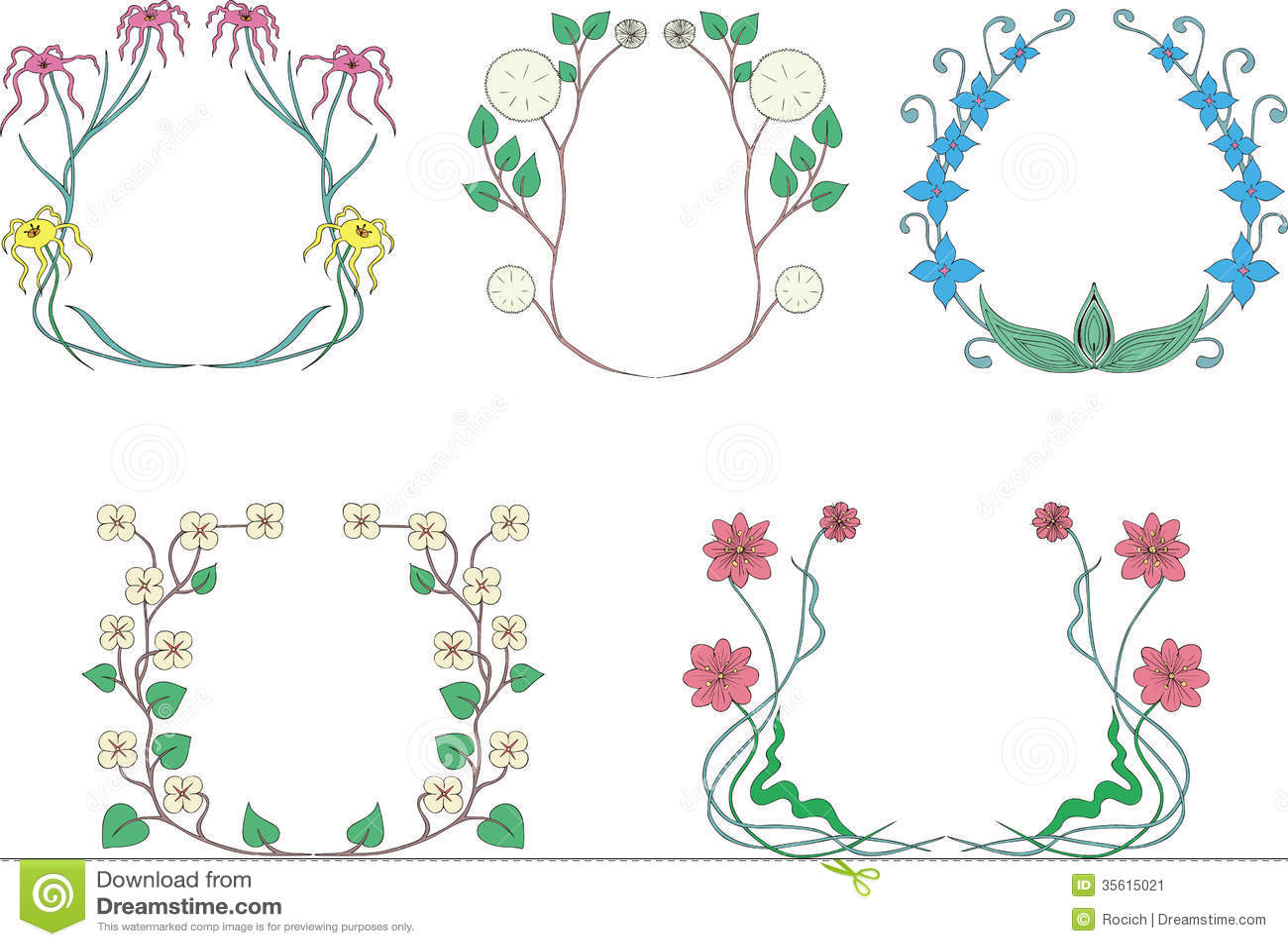 Guirlandes De Fleur Image Stock Image 35615021