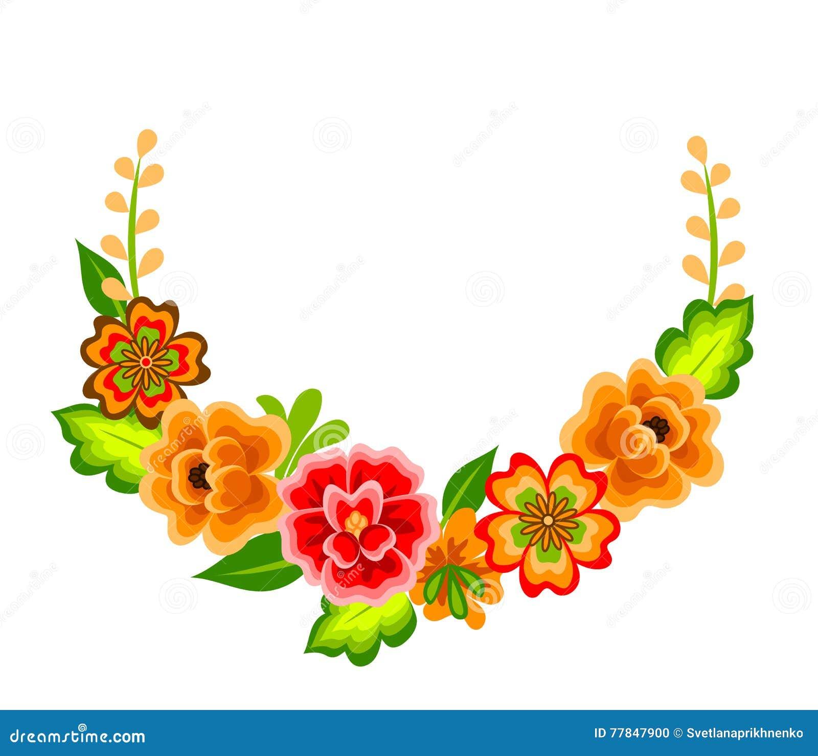 Decoracion Con Las Flores Mexicanas Ilustracion Del Vector