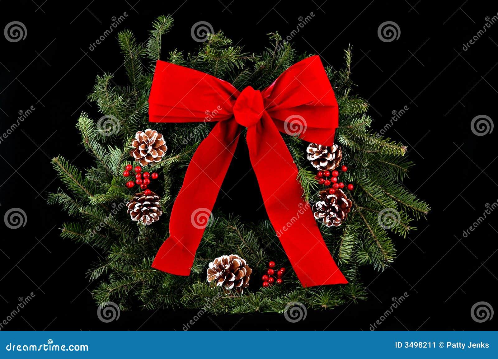 Guirnalda de la navidad en negro imagen de archivo - Guirnalda de navidad ...