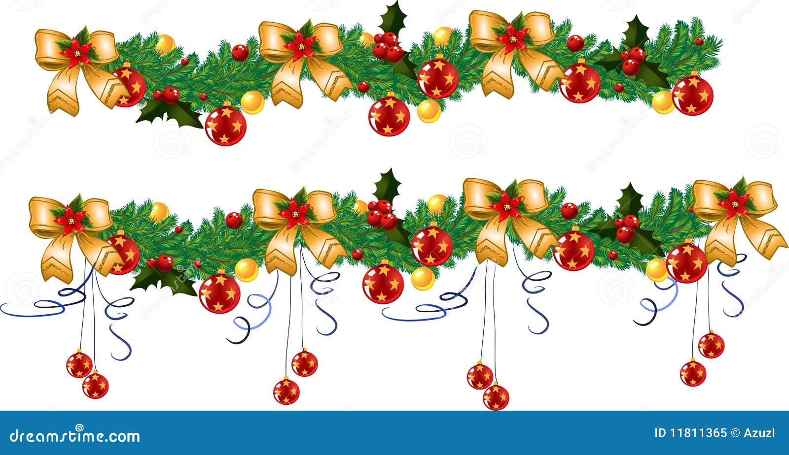 guirnalda de la navidad vector - Guirnalda De Navidad