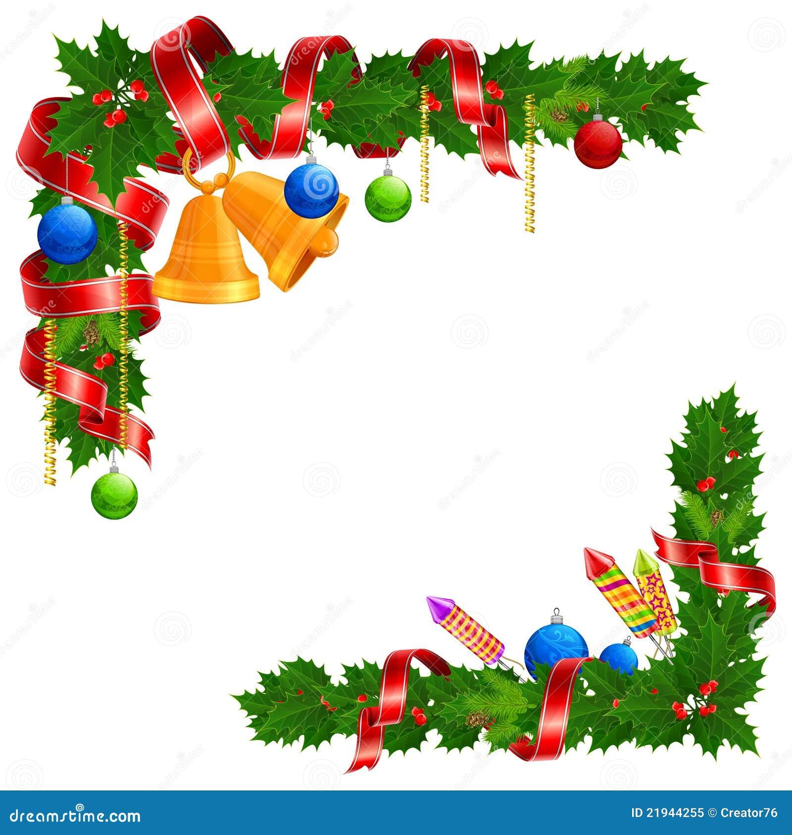Guirnalda del ngulo de la navidad ilustraci n del vector - Guirnalda de navidad ...